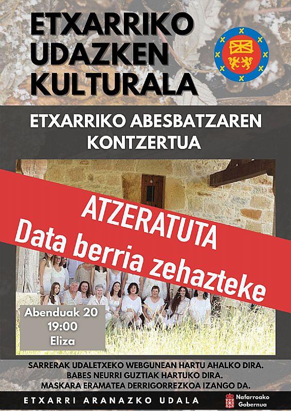 ETXARRI ARANAZKO ABESBATZAREN GABONETAKO KONTZERTUA