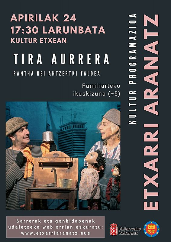 Teatro familiar  + 5 años TIRA AURRERA Pantha Rei teatro