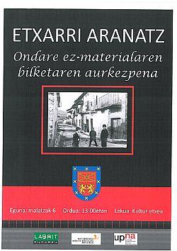 AHOZKO ONDARE-EZ MATERIALAREN BILKETAREN AURKEZPENA