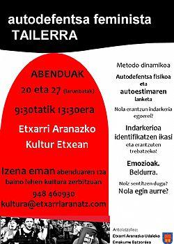 AUTODEFENTSA TAILERRAN IZENA EMATEKO EPEA ABENDUAREN 12ra ARTE