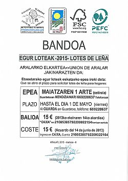 ARALARKO ELKARTEA-EGUR LOTEAK 2015