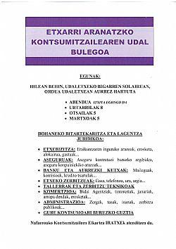 KONTSUMITZAILEAREN UDAL BULEGOAREN AGENDA BERRIA